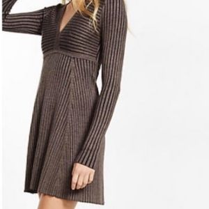 Expressed Ribbed Sweater Dress